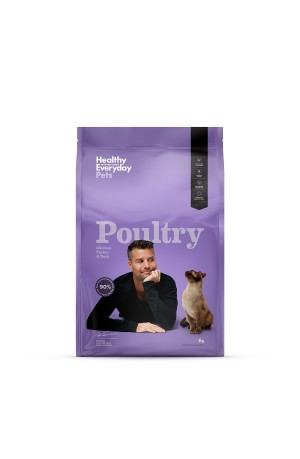 Healthy Everyday Pets Poultry Dry Cat Food 3kg