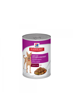 Hill's Science Diet Adult Savoury Stew Beef Vegetable Cans