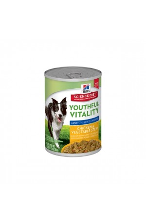Hills Science Diet Youthful Vitality Mature Chicken Vegetable Cans