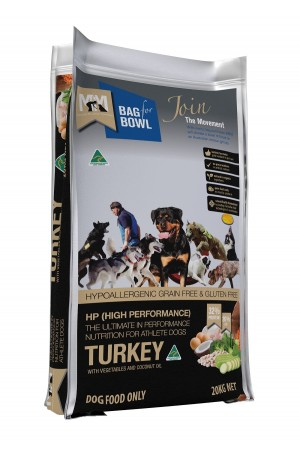 Meals For Mutts Hi Performance Grain Free Turkey Chick Pea 20kg