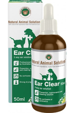 Natural Animal Solutions Ear Clear for Cats and Dogs 50ml