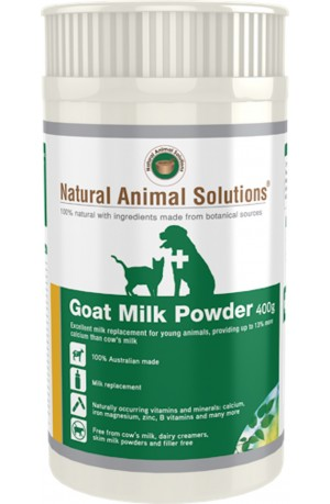 Natural Animal Solutions Goat Milk Powder For Dogs And Cats 400g
