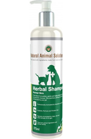 Natural Animal Solutions Normal Herbal Shampoo For Dogs And Cats 375ml
