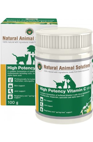 Natural Animal Solutions High Potency Vitamin C For Dogs And Cats 100g