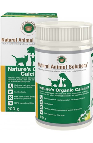 Natural Animal Solutions Natures Organic Calcium For Dogs And Cats 200g