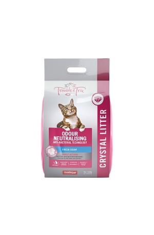 Trouble And Trix Crystal Anti Bacterial Cat Litter 15L